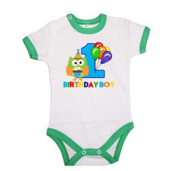 Бебешко боди birthday boy 1owl