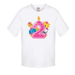 Детска тениска Рожден ден Second Birthday candle Animals