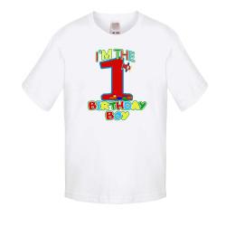Детска тениска Рожден ден I am the birthday boy 1 train and plane