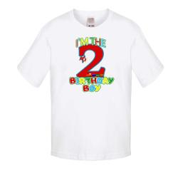 Детска тениска Рожден ден I am the birthday boy 2 train and plane