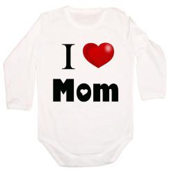 Бебешко боди I Love Mom
