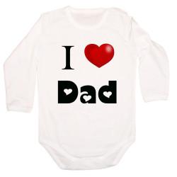 Бебешко боди I Love Dad