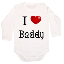 Бебешко боди I Love Daddy 2