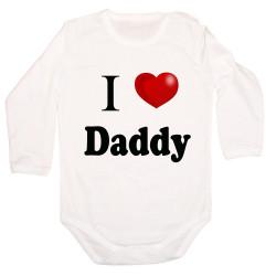 Бебешко боди I Love Daddy 3