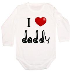 Бебешко боди I Love Daddy 4