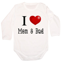 Бебешко боди I Love Mom and Dad 2