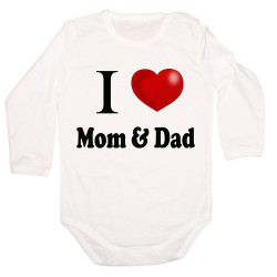 Бебешко боди I Love Mom and Dad 4