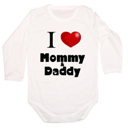 Бебешко боди I Love Mommy and Daddy