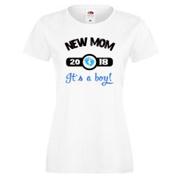 Дамска тениска New MOM 2018 boy