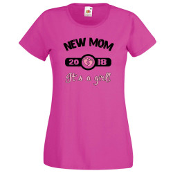 Дамска тениска New MOM 2018 girl