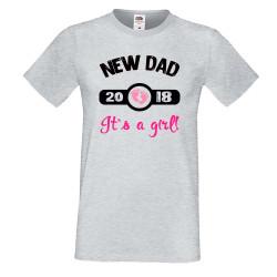 Мъжка тениска New DAD 2018 girl