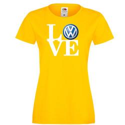 Дамска тениска VW LOVE