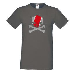 Мъжка тениска AUDI Quatro RS Skull