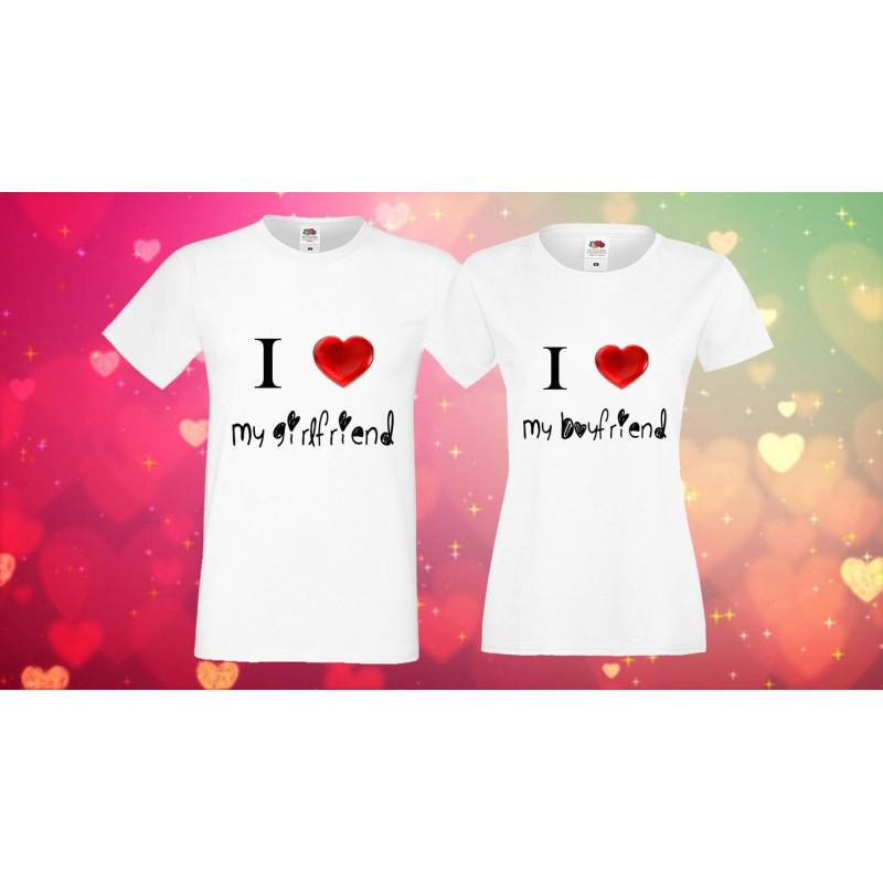 Комплект тениски за Свети Валентин 1