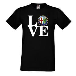 Мъжка тениска Alfa Romeo LOVE