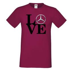 Мъжка тениска Mercedes LOVE