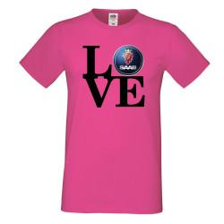Мъжка тениска Saab LOVE