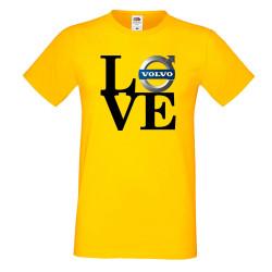 Мъжка тениска Volvo LOVE