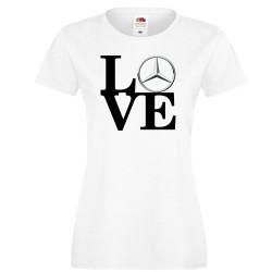 Дамска тениска Mercedes LOVE