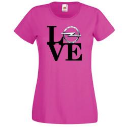 Дамска тениска OPEL LOVE