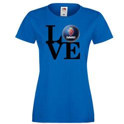 Дамска тениска Saab LOVE