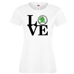 Дамска тениска Skoda LOVE