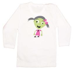 Бебешка тениска Хелоуин Frankengirl