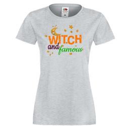 Дамска тениска Хелоуин Witch and famous